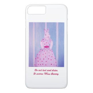 Funny Stylish Bunny phone case. Safety Reminder. iPhone 8 Plus/7 Plus Case