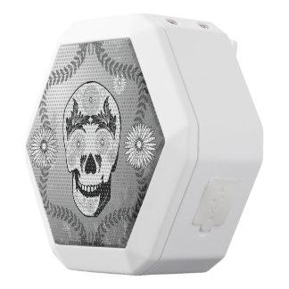 Funny sugar skull white boombot rex bluetooth speaker