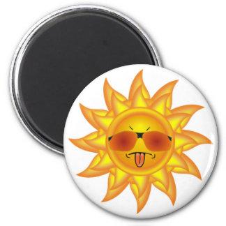 Funny, Summer Heat, Sunshine - Too Hot Attitude Magnet