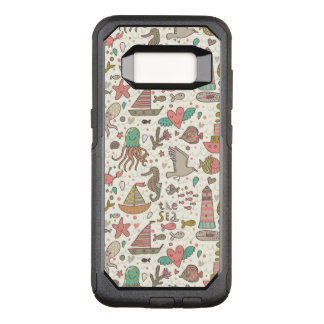 Funny Summer Pattern With Ships OtterBox Commuter Samsung Galaxy S8 Case