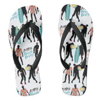 Funny summer zombie beach party just got real thongs