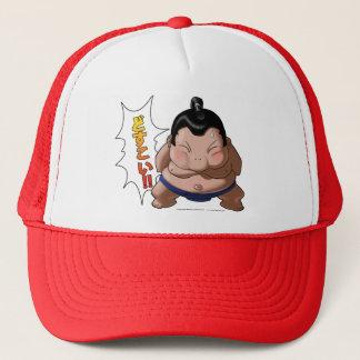 Funny Sumo Wrestler with Dosukoi Trucker Hat