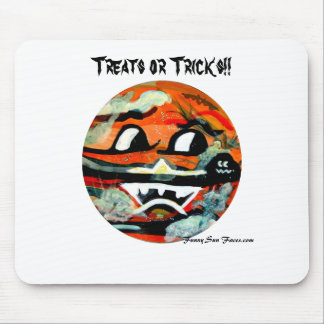 Funny Sun Faces Halloween Gifts Mouse Pad