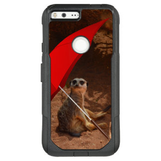 Funny Sun Smart Meerkat Under Umbrella, OtterBox Commuter Google Pixel XL Case