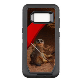 Funny Sun Smart Meerkat Under Umbrella, OtterBox Defender Samsung Galaxy S8 Case