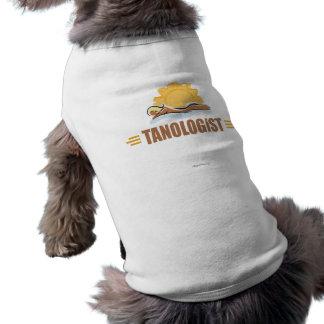 Funny Sun Tanning Dog T Shirt