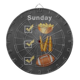 Funny Sunday Football Checklist Dartboard