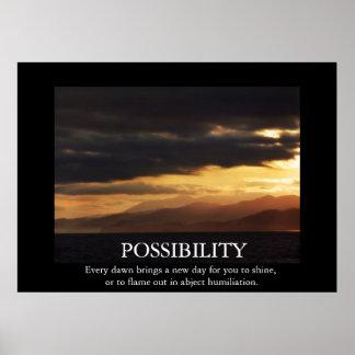 Funny Sunrise Possibility De-motivating Poster
