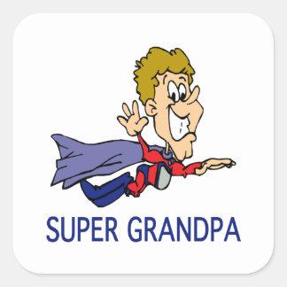 Funny Super Grandpa Square Sticker