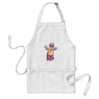 funny super hero villian peanut character apron