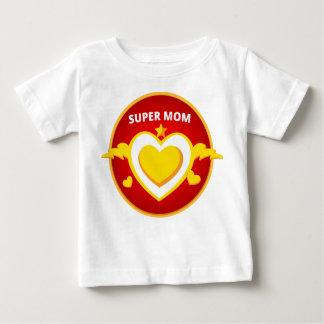 Funny Superhero Flash Mom emblem Baby T-Shirt