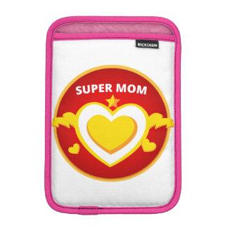 Funny Superhero Flash Mom emblem iPad Mini Sleeve