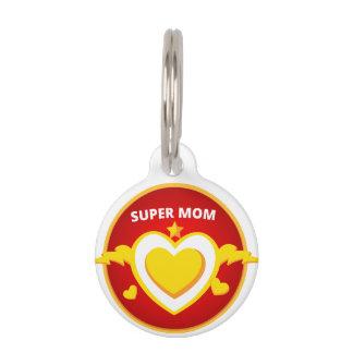 Funny Superhero Flash Mom emblem Pet ID Tag