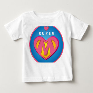 Funny Superhero Superwoman Mom emblem Baby T-Shirt