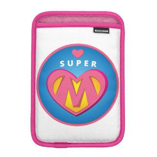 Funny Superhero Superwoman Mom emblem iPad Mini Sleeve