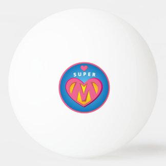 Funny Superhero Superwoman Mom emblem Ping Pong Ball