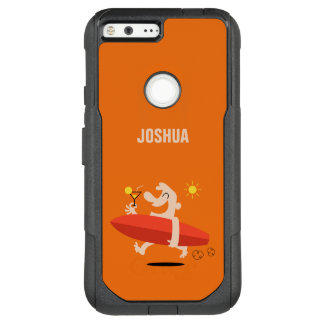 Funny Surfer with Cocktail custom name phone cases