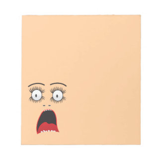 Funny Surprized lady face Notepads