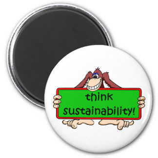 funny sustainability magnet