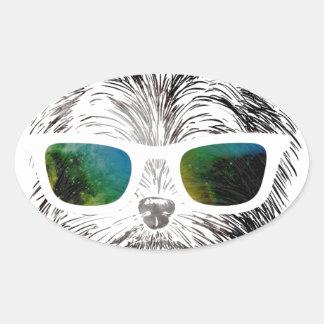 Funny Swag Dog Puppy Oval Sticker