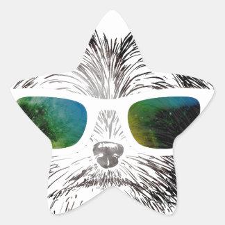 Funny Swag Dog Puppy Star Sticker