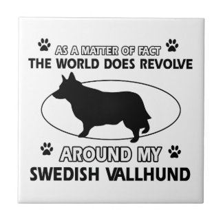 Funny swedish vallhund designs tile