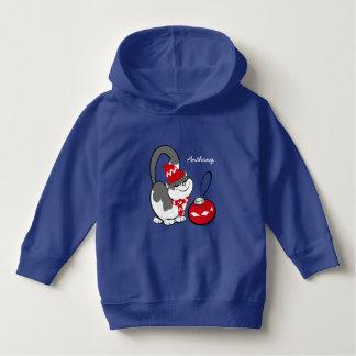 Funny Sweet Kitty Custom Kid's Name Hoodie