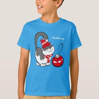 Funny Sweet Kitty Custom Kid's Name T-Shirts