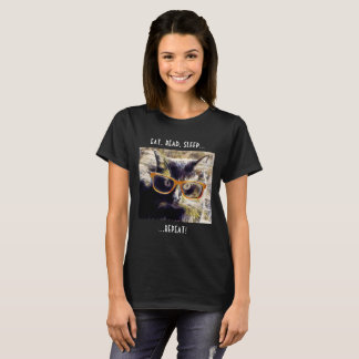 Funny T for Cat Lovers & Book Lovers! T-Shirt