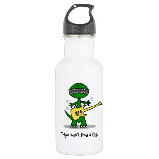 Funny T-Rex Can't Find a Gig Guitar Music 532 Ml Water Bottle