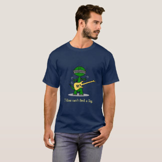 Funny T-Rex Can't Find A Gig Guitar Music T-Shirt