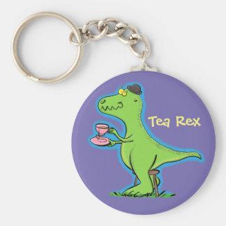 Funny T rex dinosaur cartoon Key Ring