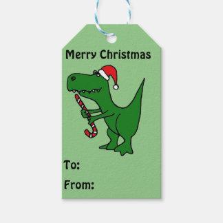Funny T-rex Dinosaur Christmas Gift Tags