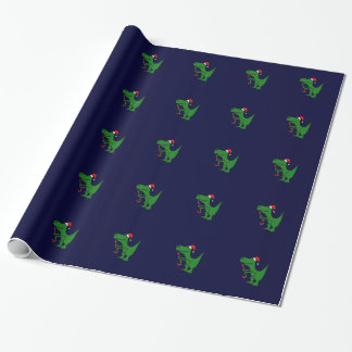Funny T-rex Dinosaur Christmas Wrapping Paper