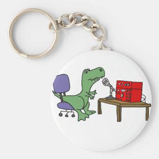 Funny T-rex Dinosaur on Ham Radio Key Ring