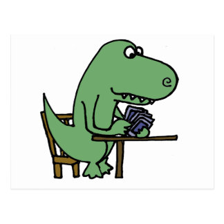 Funny T-Rex Dinosaur Playing Cards