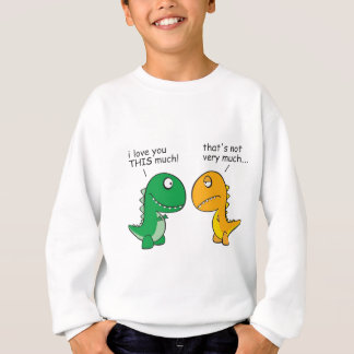funny-T-Rex-little-arms-cartoon Sweatshirt
