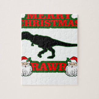 Funny T-Rex Ugly Christmas Sweater Shirts M.png Puzzles