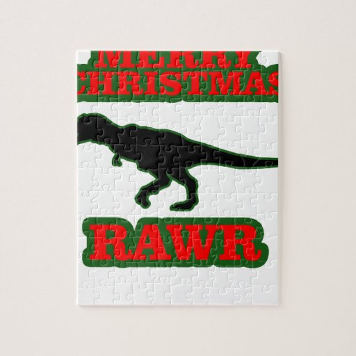 Funny T-Rex Ugly Christmas Sweater Shirts.png Puzzles
