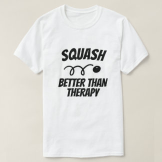 Funny t shirt for squash players or coach