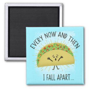 Funny Taco Pun Food Humor Parody Magnet