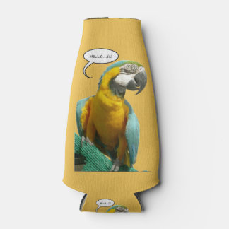 Funny Talking Parrot Customizable Bottle Cooler