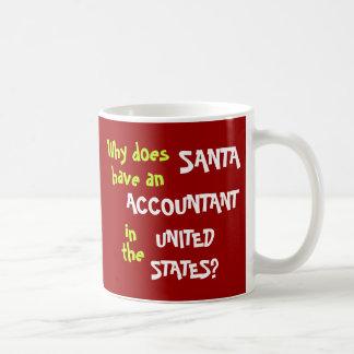 Funny Tax Accountant Christmas Joke USA Coffee Mugs