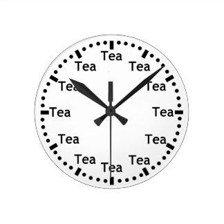 Funny Tea O' Clock Wall Clock