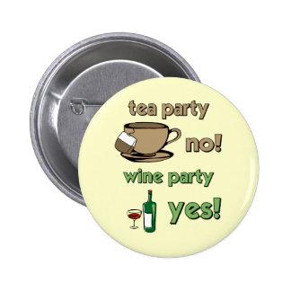 Funny tea party 6 cm round badge