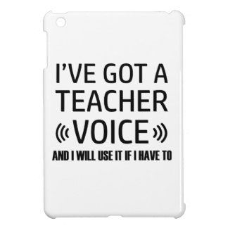 Funny Teacher voice designs Case For The iPad Mini