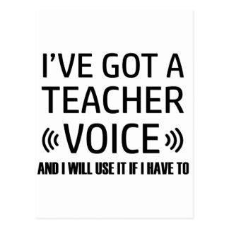 Funny Teacher voice designs Postcard