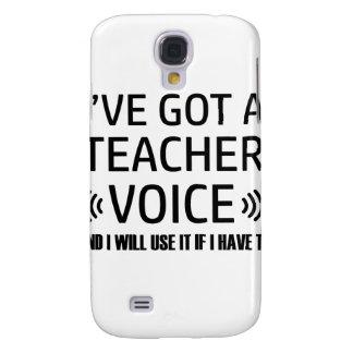 Funny Teacher voice designs Samsung Galaxy S4 Cases