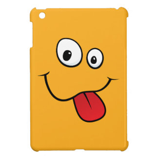 Funny teasing orange cartoon smiley face funny iPad mini covers