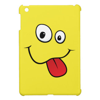 Funny teasing yellow cartoon smiley face funny iPad mini covers